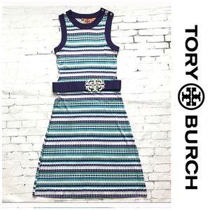 Tory Burch striped dress 100% silk small